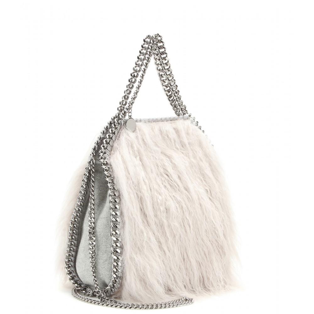 5dc80d54d5d5 Lyst - Stella McCartney Falabella Mini Faux-Fur Shoulder Bag in White