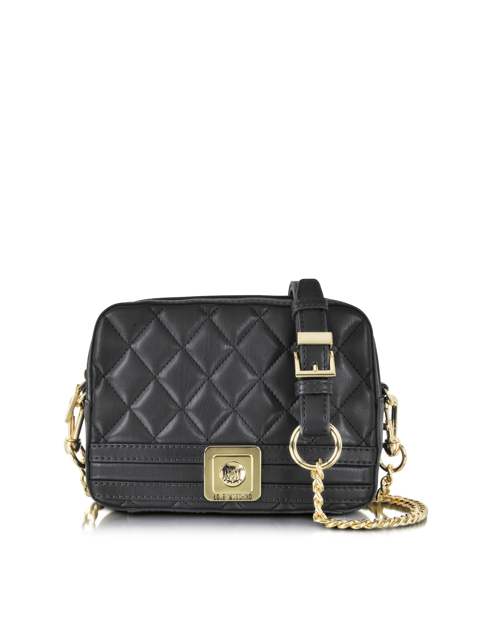 8c5aa4d9e04b Love Moschino Quilted Eco Leather Crossbody Bag in Black - Lyst
