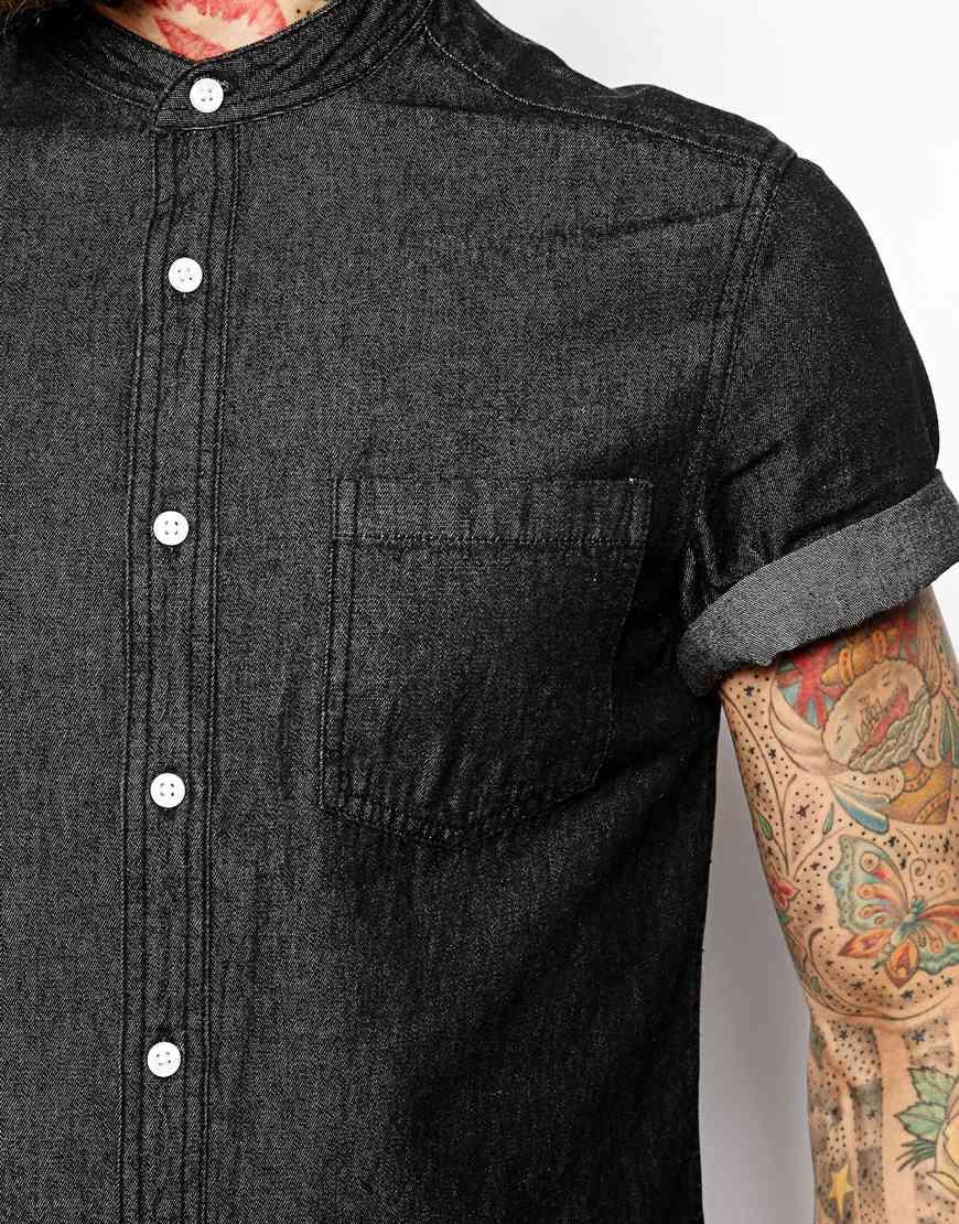 a6b45560de0 Mens Short Sleeve Dark Denim Shirt – EDGE Engineering and Consulting ...