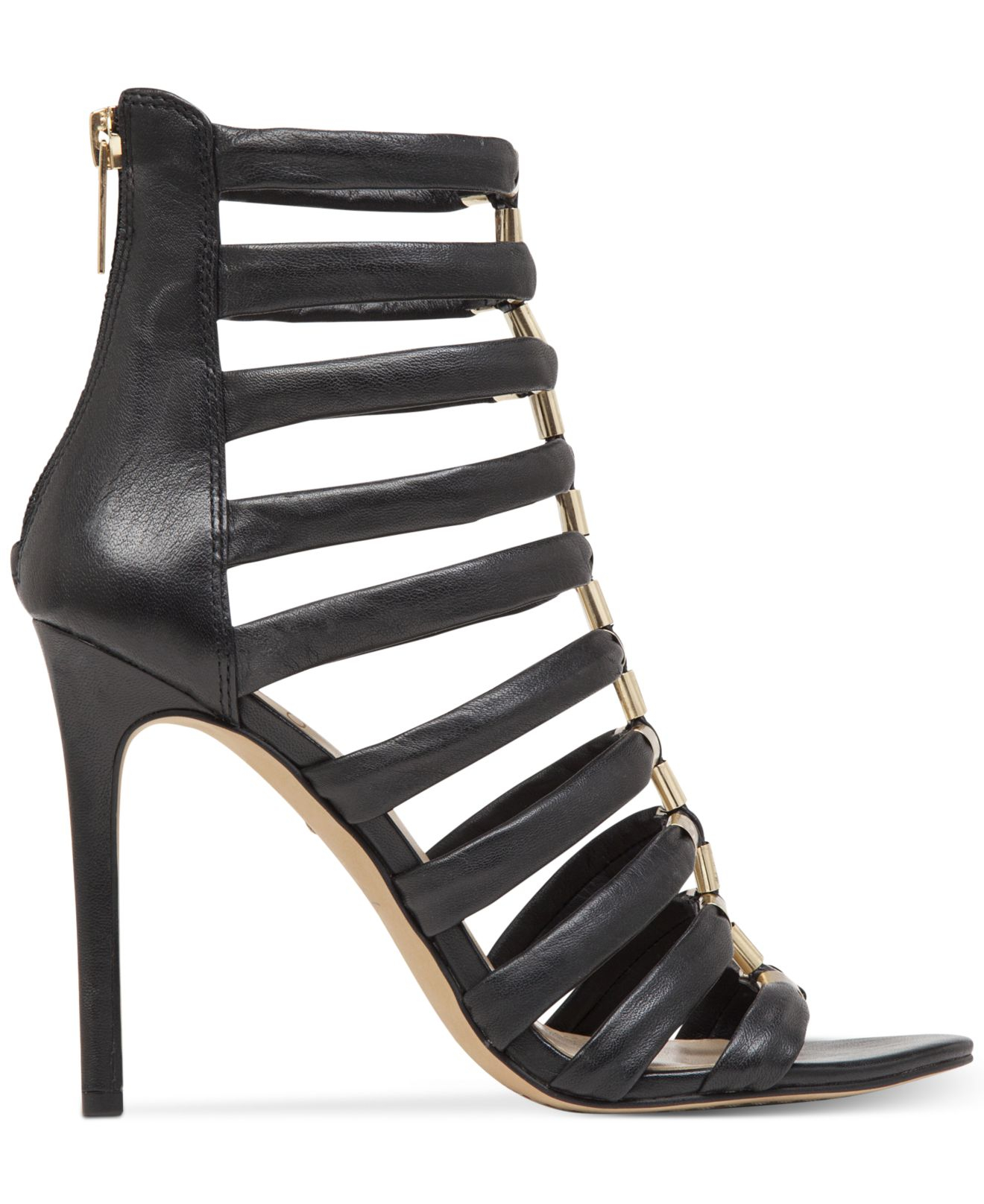 6254c4315c6 Lyst - Vince Camuto Troy Caged Dress Sandals in Black
