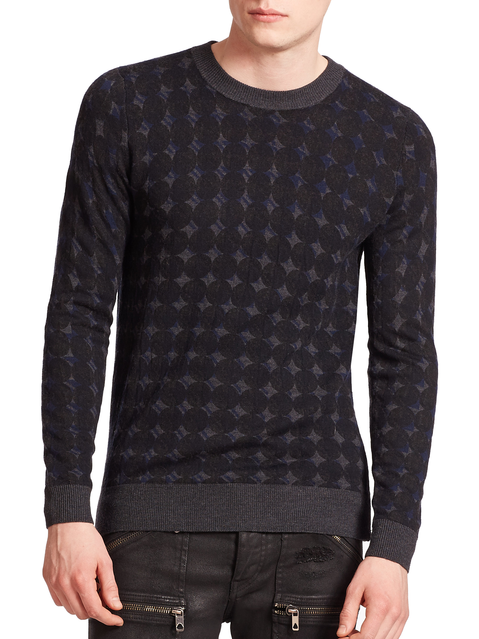 Diesel black gold Kony-semoi Side-zip Sweater in Gray for Men | Lyst