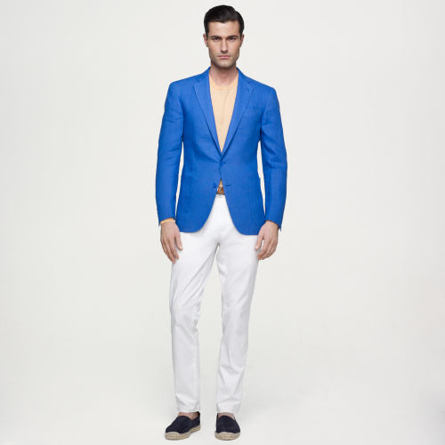 Ralph lauren black label Linen Sport Coat in Blue for Men | Lyst