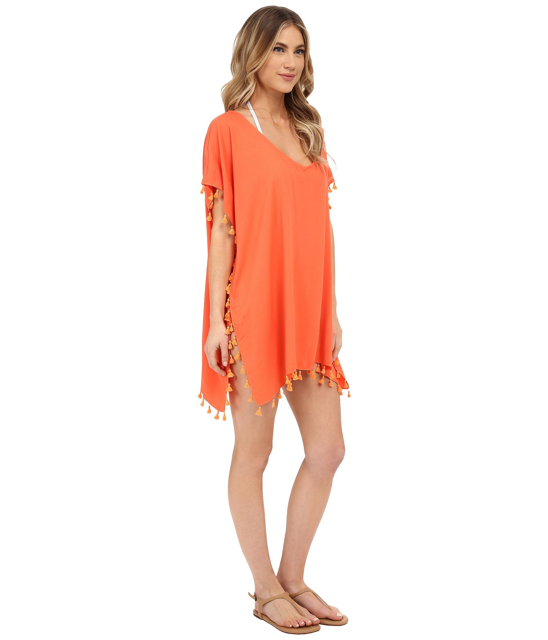 e44089728d27a Lyst - Seafolly Bling Beach Kaftan Cover-up in Orange
