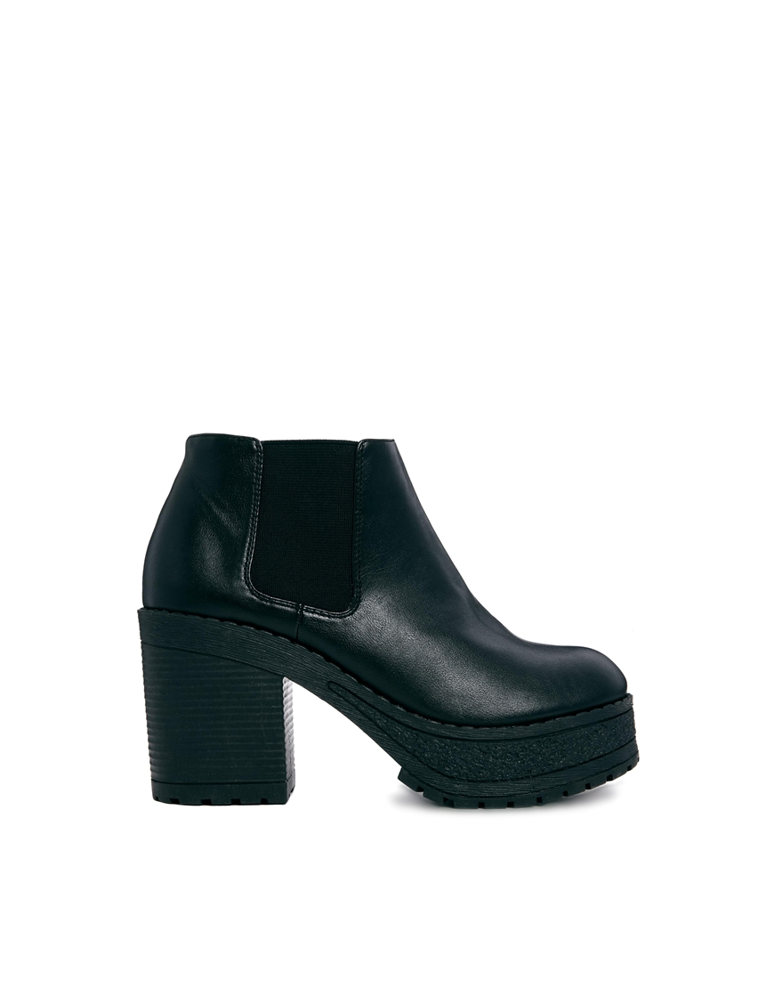 asos elton ankle boots in black lyst