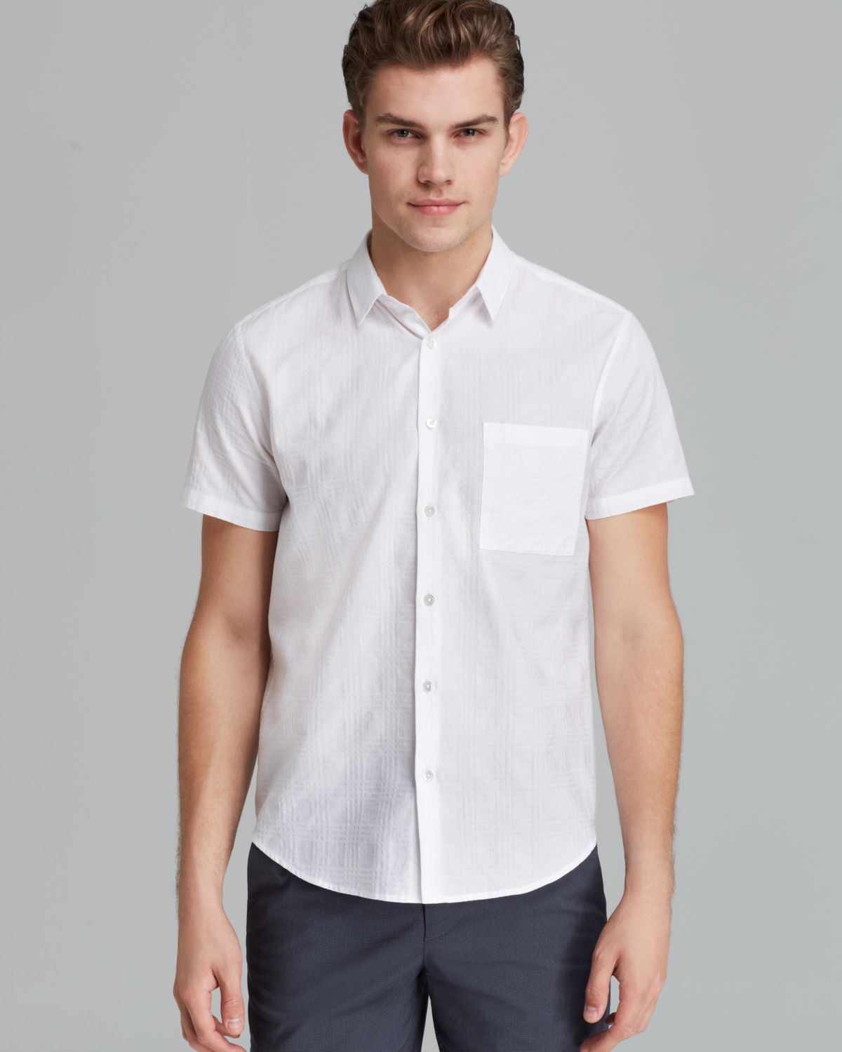 Theory Emer S Felton Short Sleeve Button Down Shirt - Slim Fit in ...