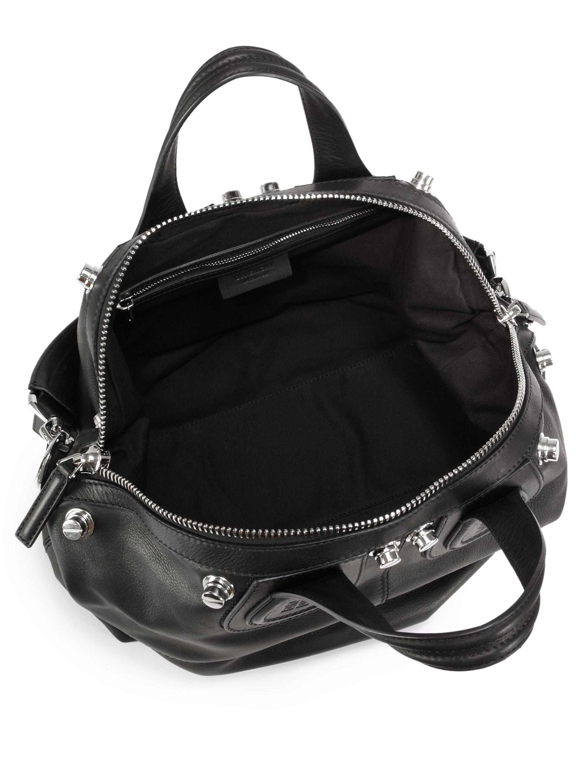 a565eb37581f Lyst - Givenchy Nightingale Studded Medium Satchel in Black