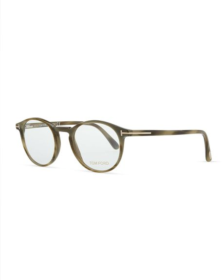 tom ford plastic round fashion glasses green in green lyst. Cars Review. Best American Auto & Cars Review