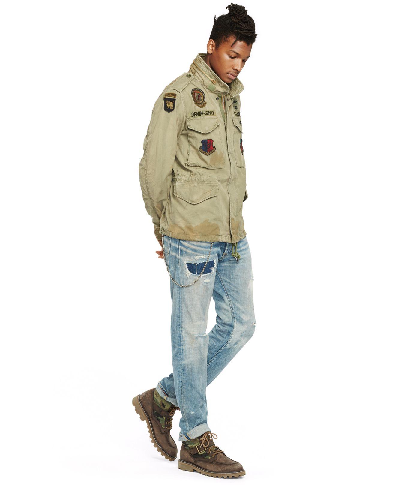 Lyst Denim Amp Supply Ralph Lauren Canvas Field Jacket In Green For Men