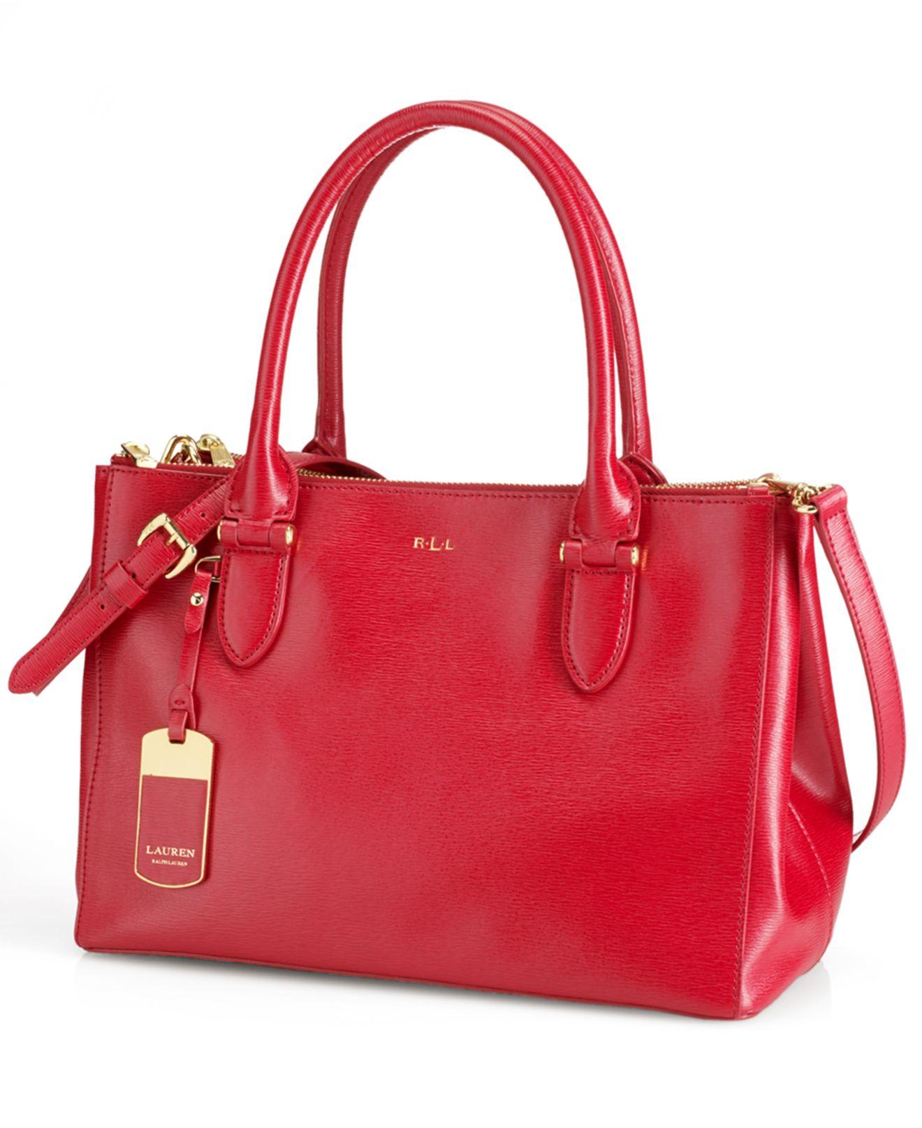 0259dc2e4a4 Lyst - Lauren By Ralph Lauren Newbury Double Zip Shopper in Red