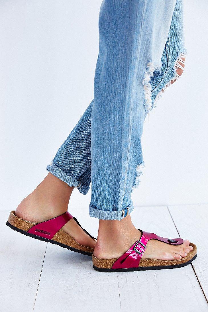 birkenstock gizeh thong sandal in pink lyst. Black Bedroom Furniture Sets. Home Design Ideas