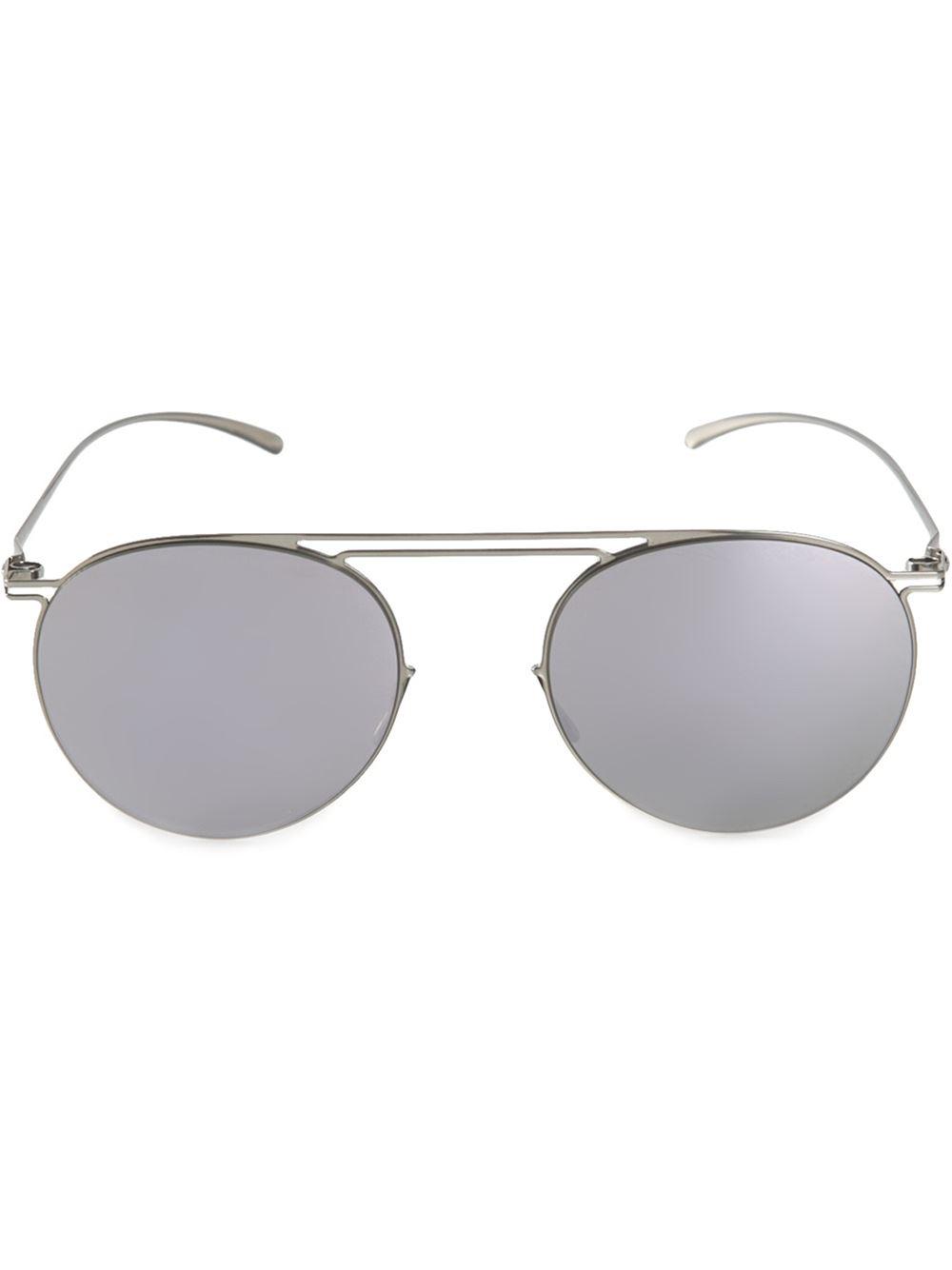 Maison Margiela x Mykita round sunglasses - Metallic Mykita S8scg