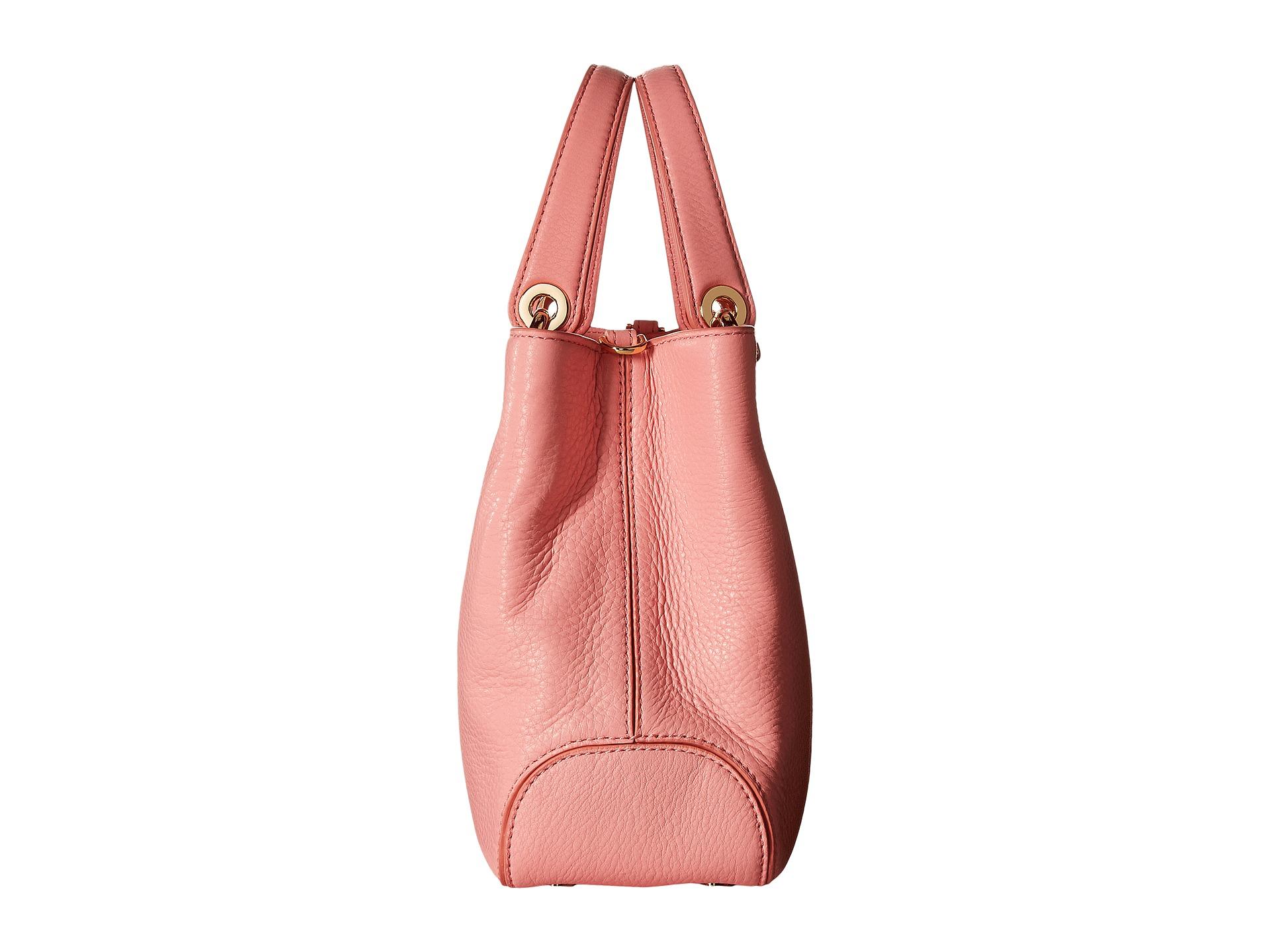 fbb37725724c Lyst - MICHAEL Michael Kors Jet Set Snap Pocket Leather Tote Bag in Pink