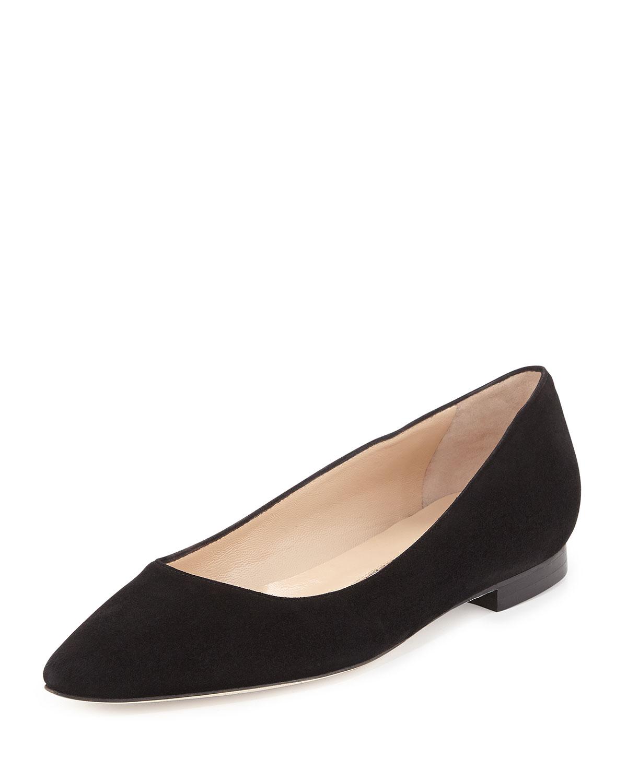 9c0dfc399d974 australia manolo blahnik hangisi pointy toe pump women 0f383 2bc7d; canada  lyst manolo blahnik bb suede ballerina flat in black 73ca0 1ccb3