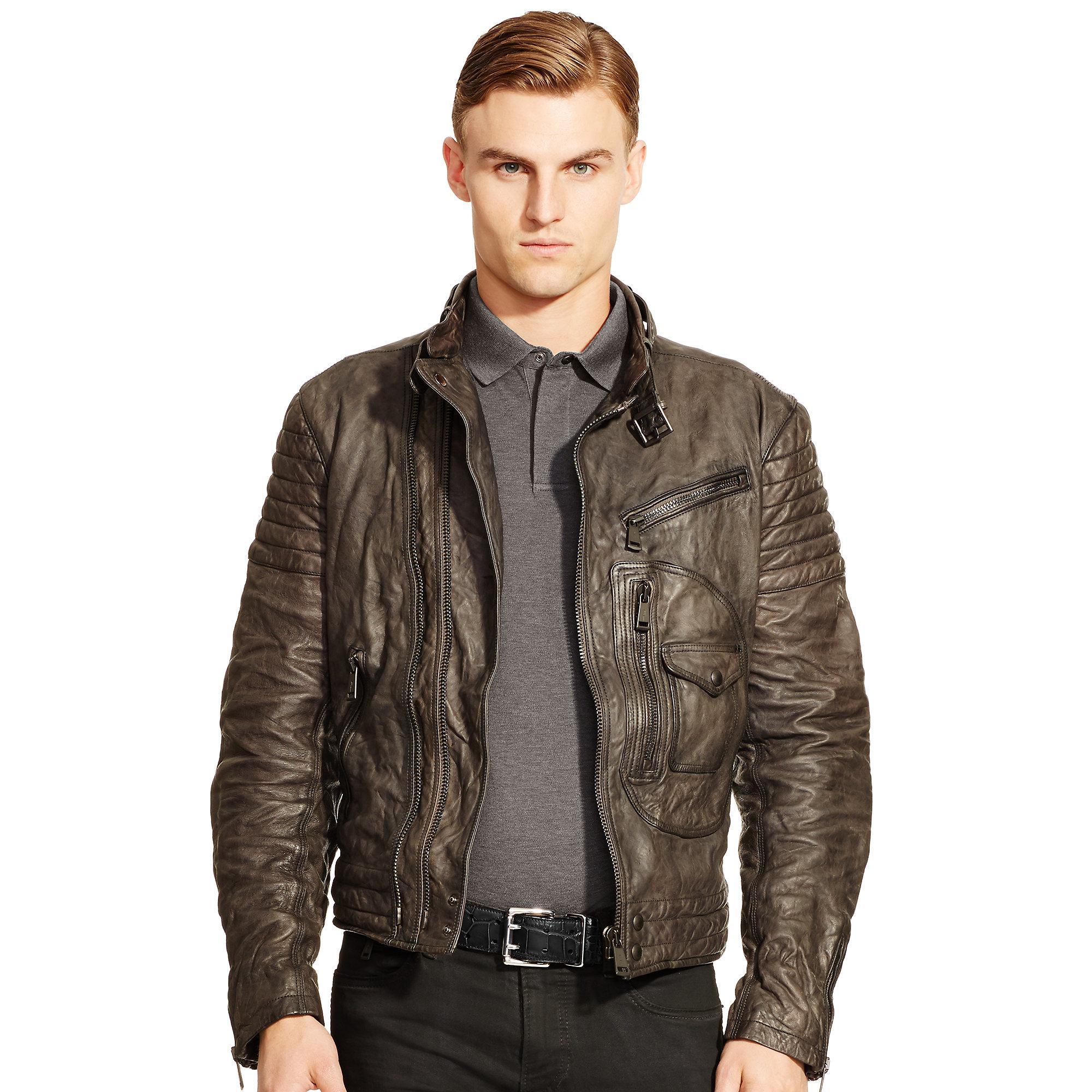 Leather jacket ralph lauren
