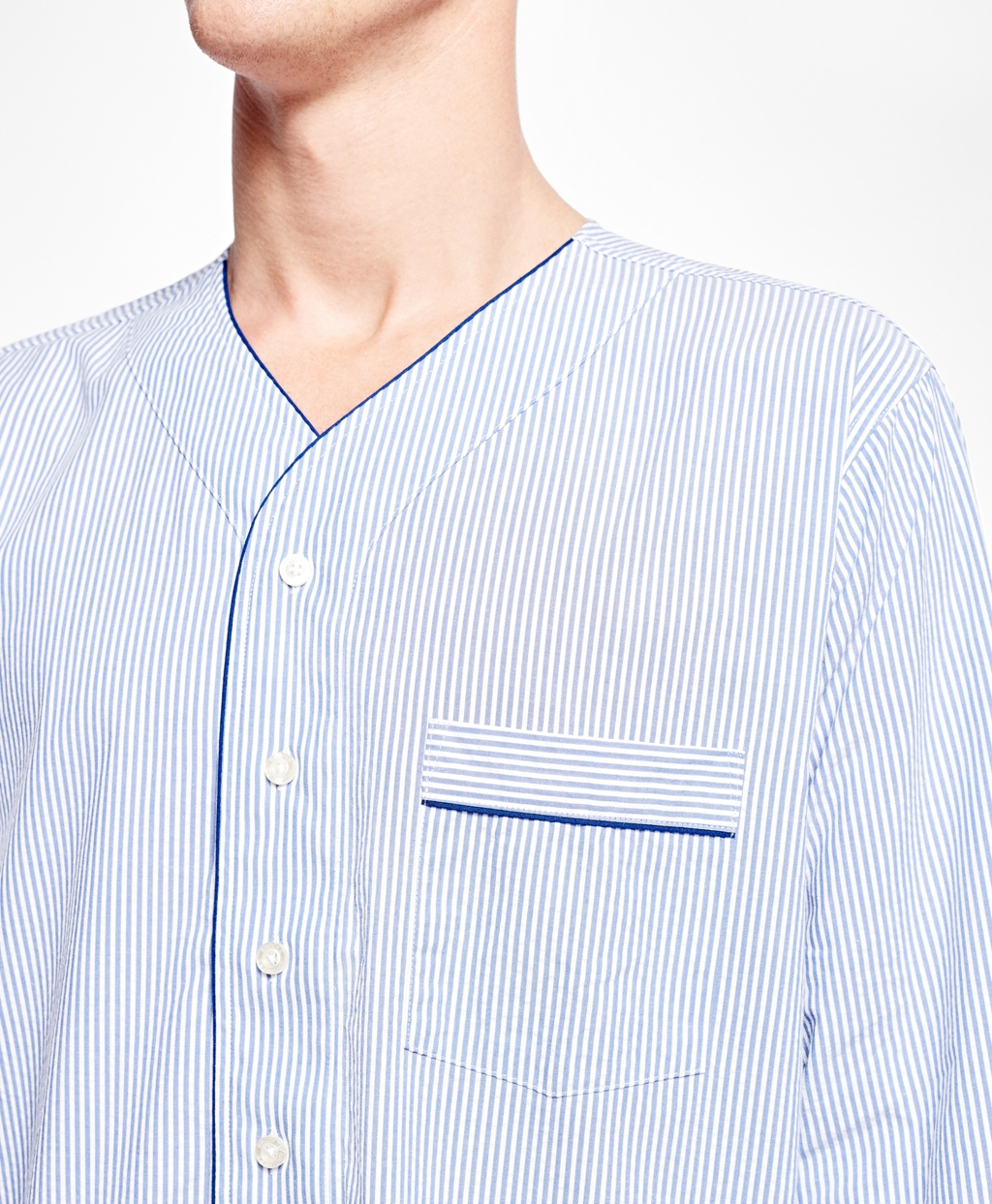 Lyst - Brooks Brothers Seersucker Candy Stripe Nightshirt in Blue ... f2ec80be0