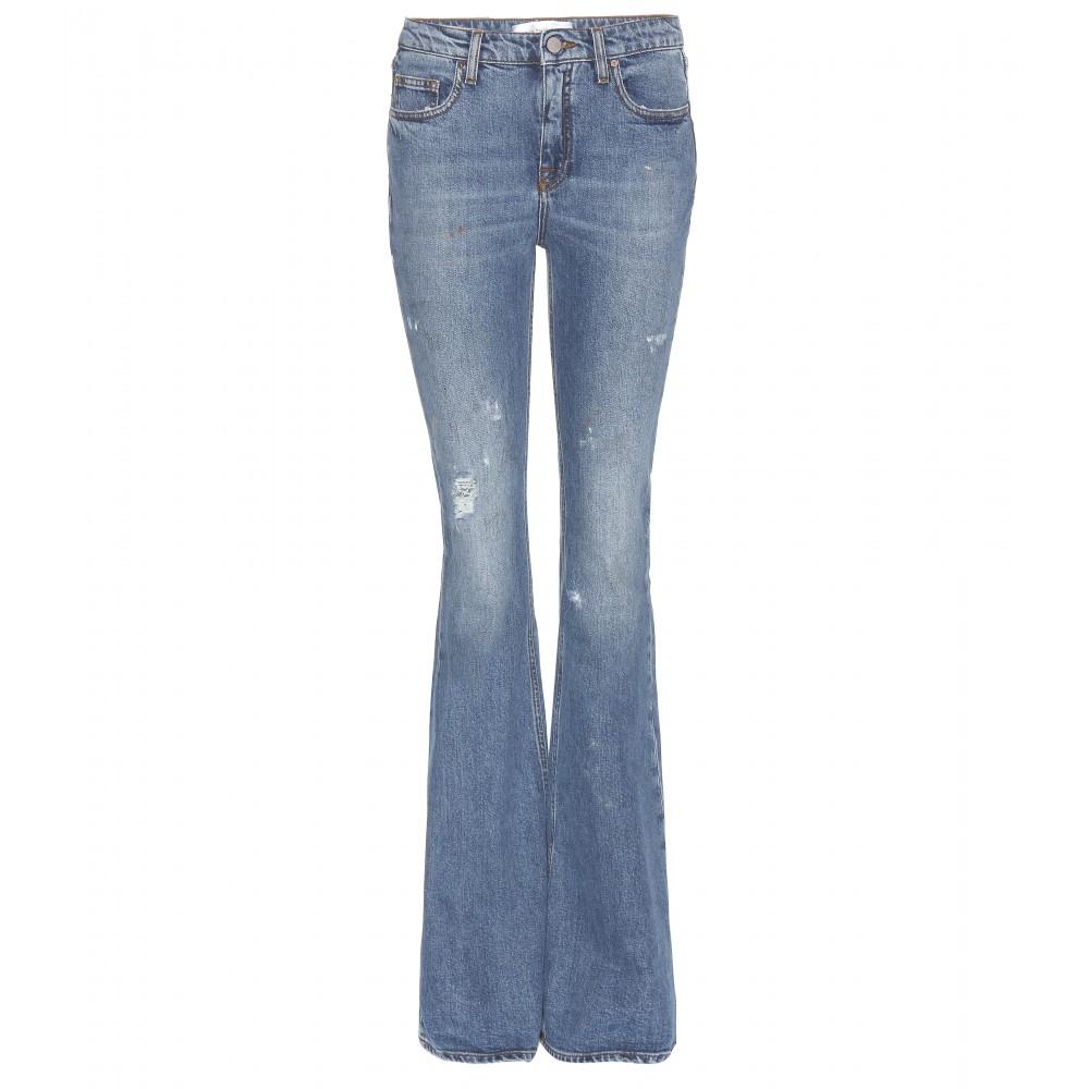 Lyst Victoria Beckham Flared Jeans In Blue