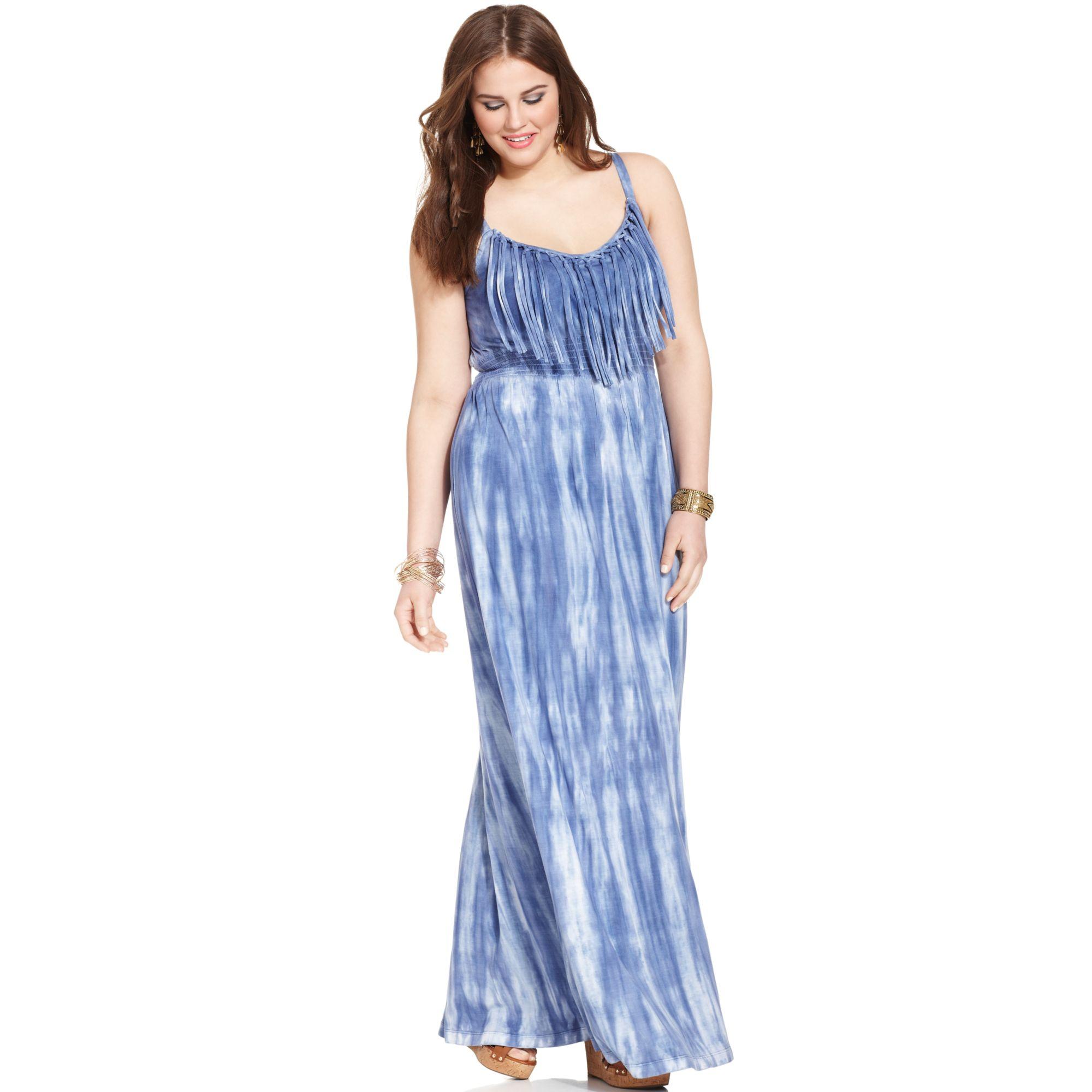 Plus Size Tie Dye Maxi Dress – Fashion dresses