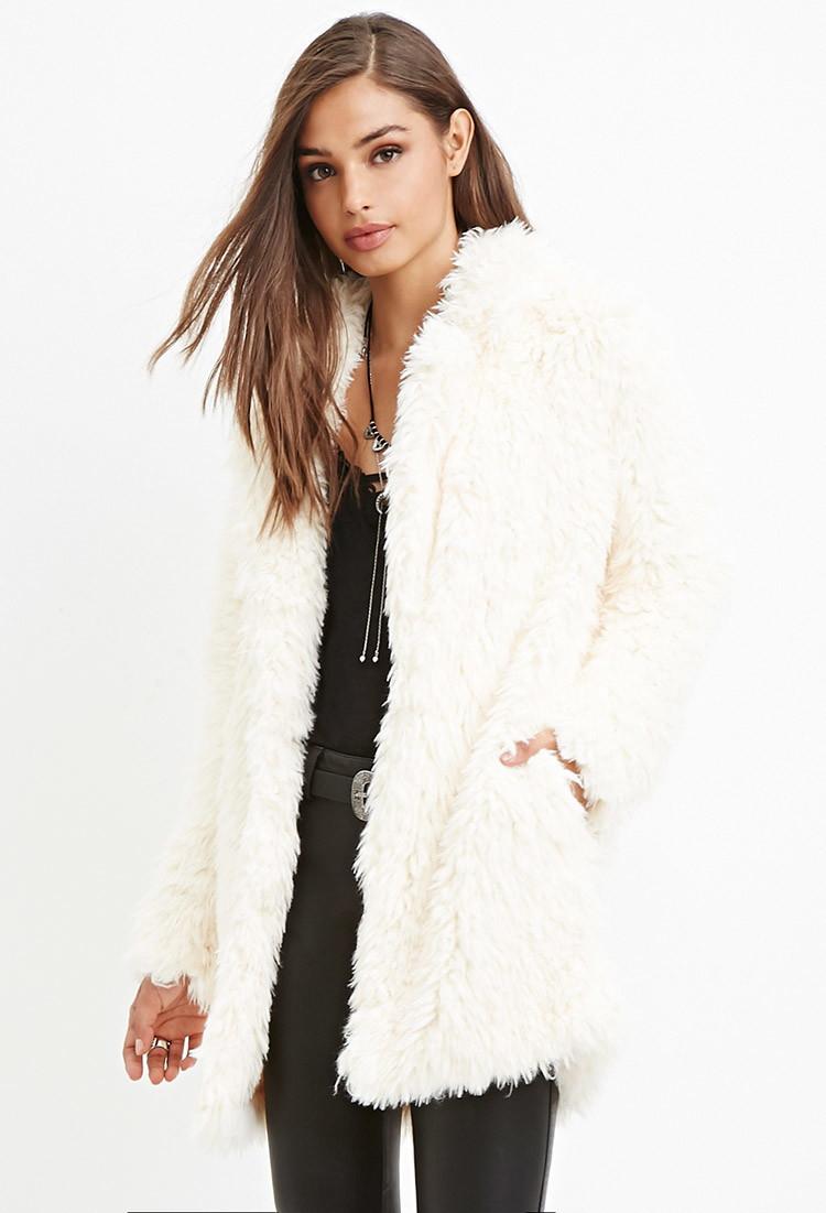 b242f509f1a2 Forever 21 Plus Size Shaci Leopard Faux Fur Coat. Faux Fur Vest White  Collections Whats