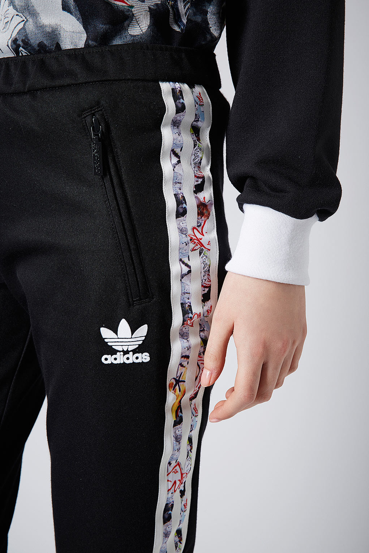 topshop pantaloni della tuta da x adidas originali in nero lyst