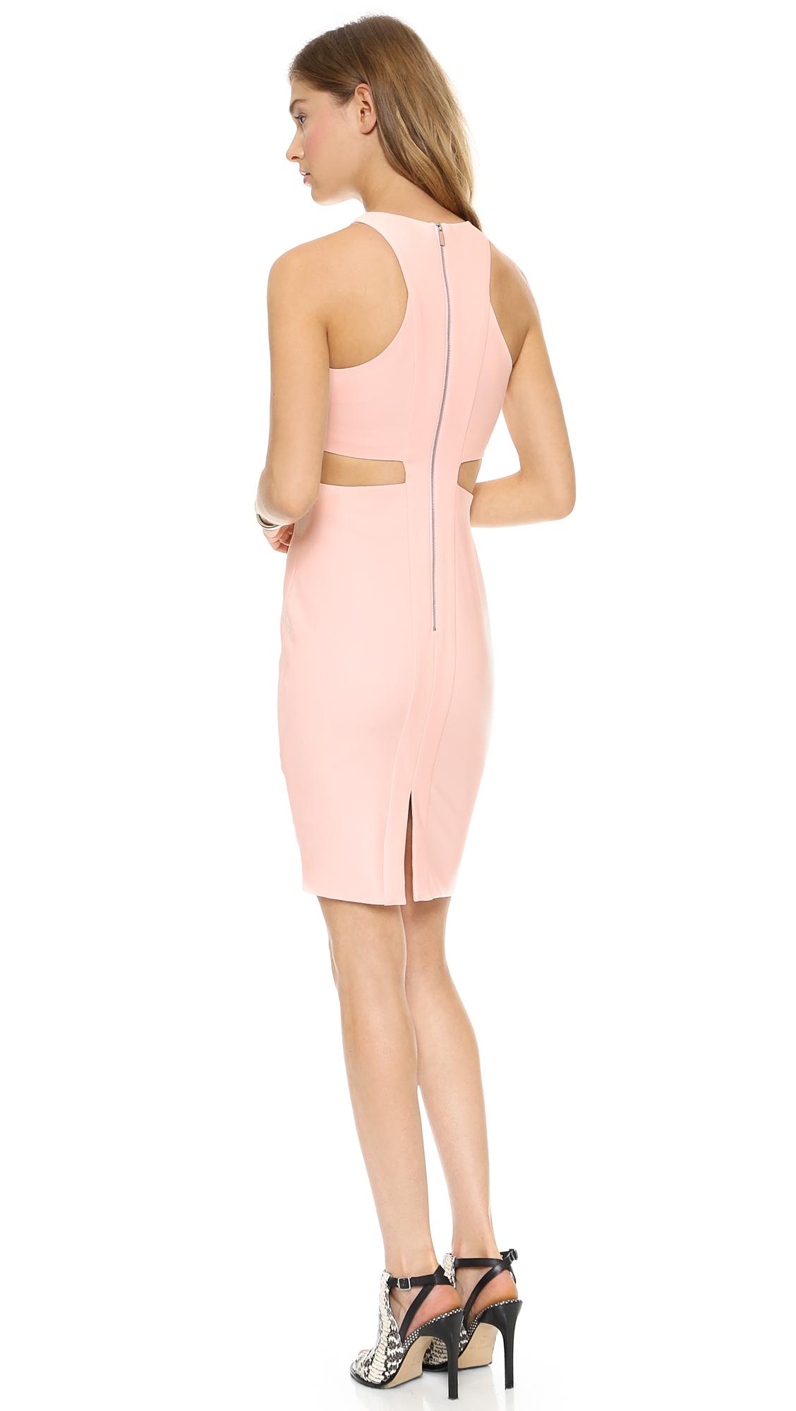 elizabeth and james lela cutout dress in pink peony pink lyst. Black Bedroom Furniture Sets. Home Design Ideas
