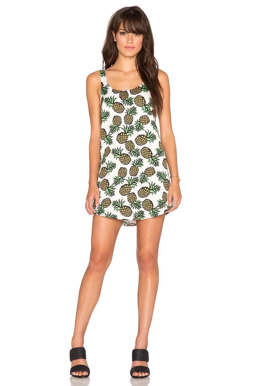 Blaque Label Pineapple Tank Dress In White | Lyst