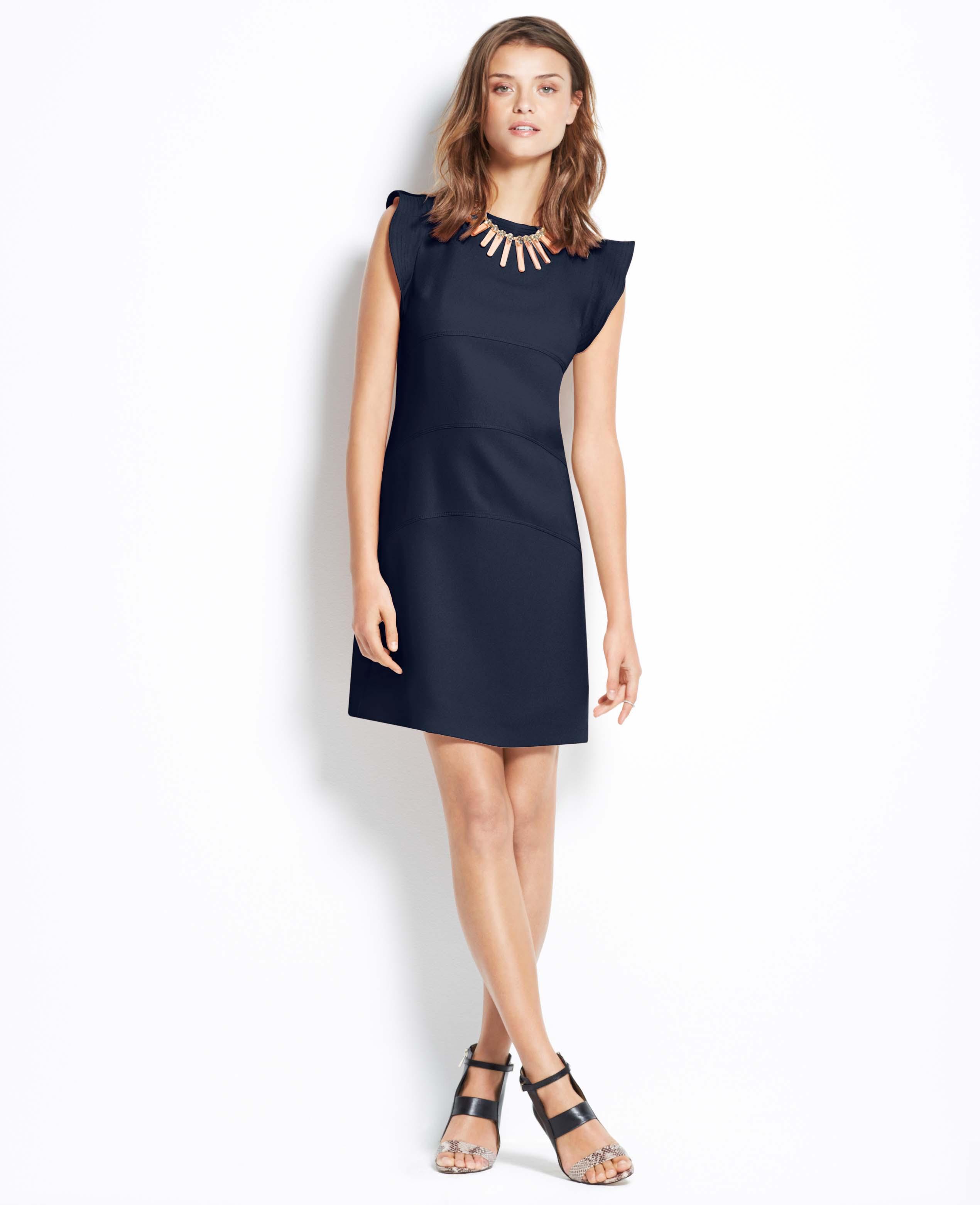 e412d107cb Lyst - Ann Taylor Flutter Panel Dress in Blue