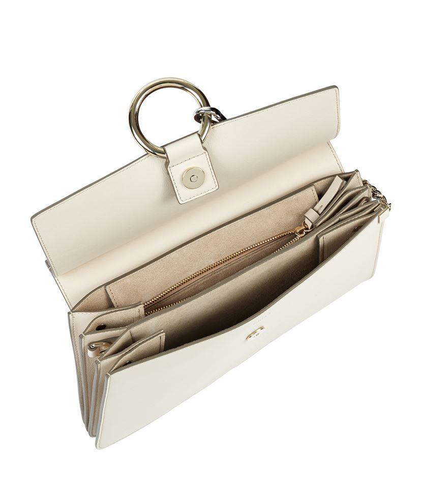 chloe pink handbag - Chlo�� Medium Faye Python Shoulder Bag in Beige | Lyst