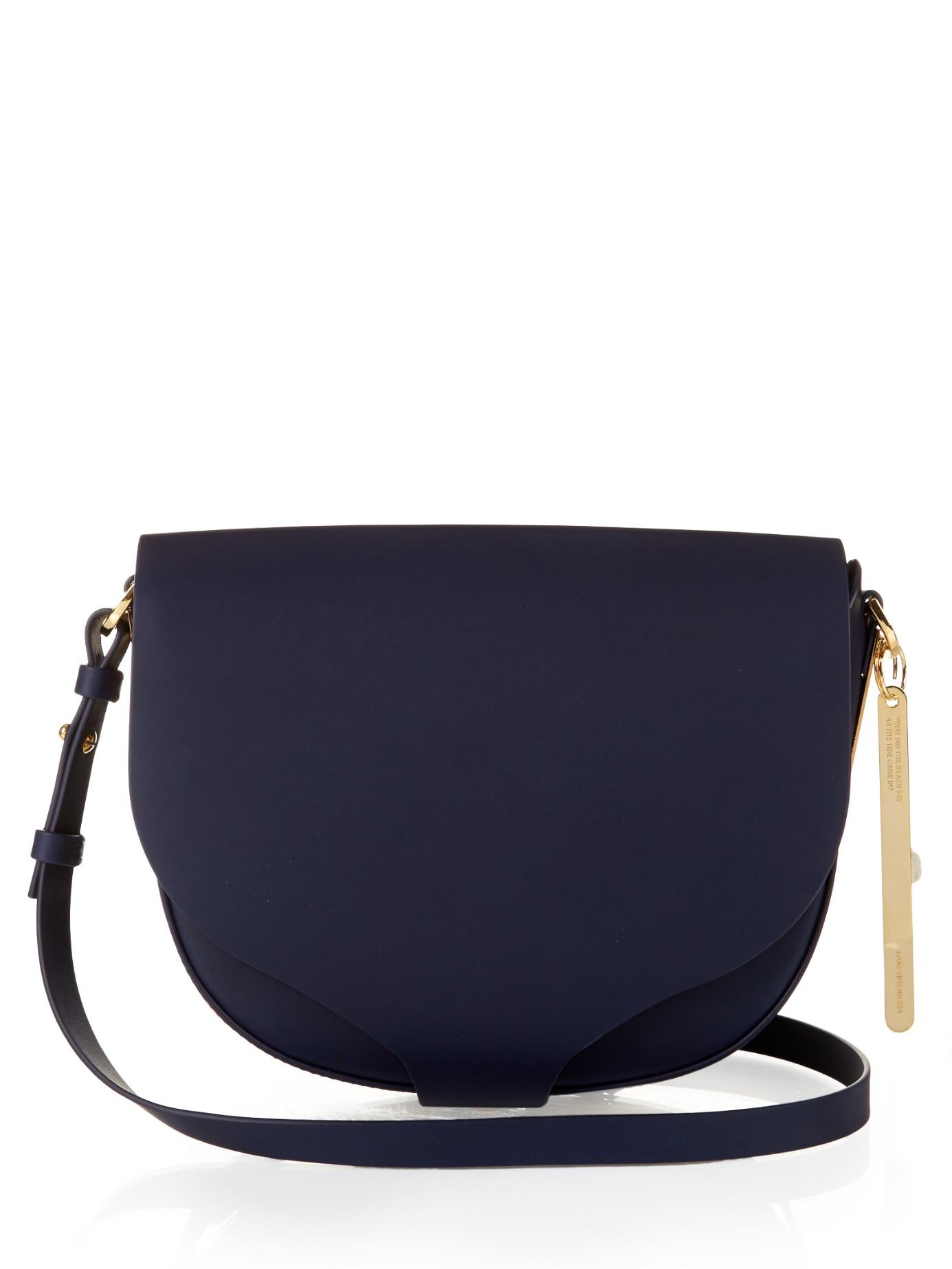 41e44aaf4ee3 Lyst - Sophie Hulme Barnsbury Medium Leather Cross-body Bag in Blue