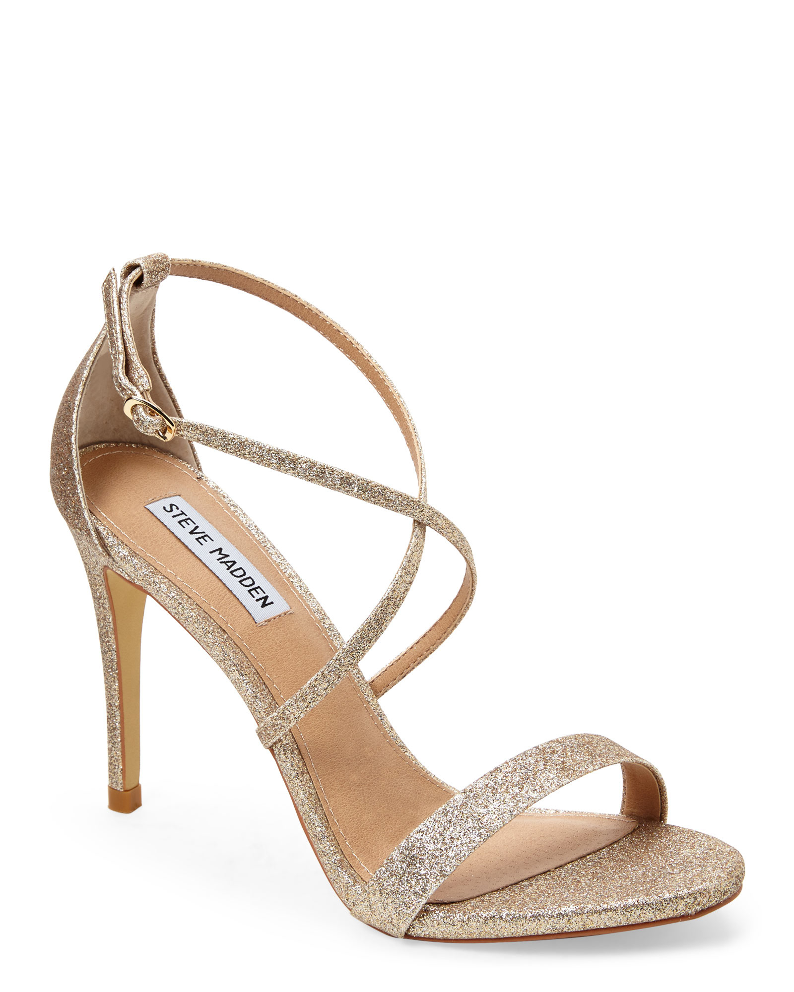 65f99c50cc1 Lyst - Steve Madden Gold Feliz Strappy Sandals in Metallic
