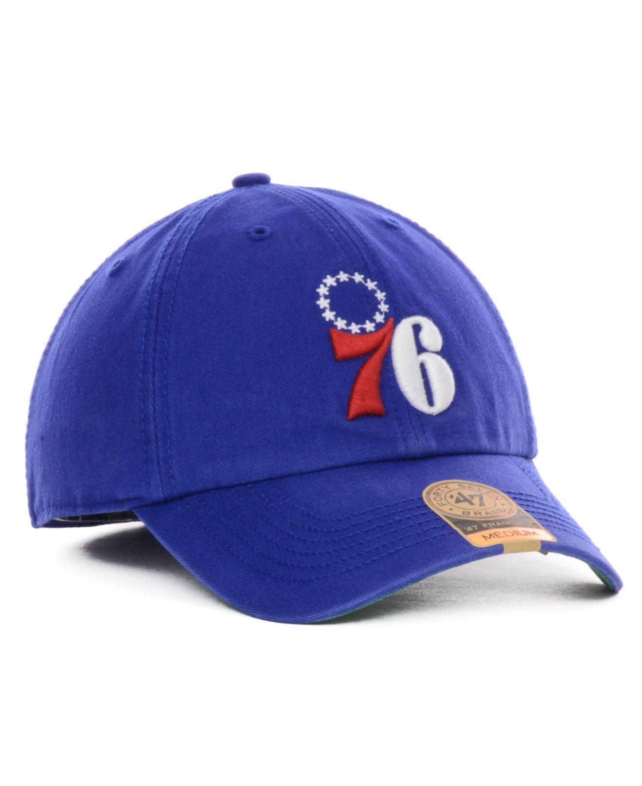 Lyst - 47 Brand Philadelphia 76Ers Franchise Cap in Blue for Men 0605a1435683