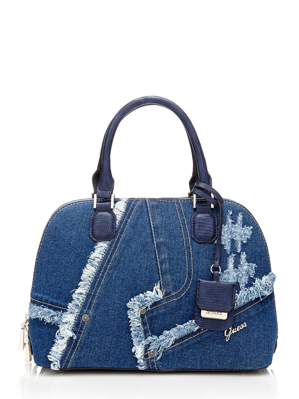 Guess Dani Jeans Satchel Bag in Blue | Lyst
