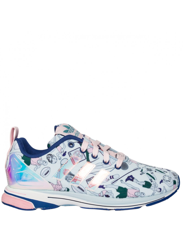 adidas originali donne zx flusso scarpe blu lyst