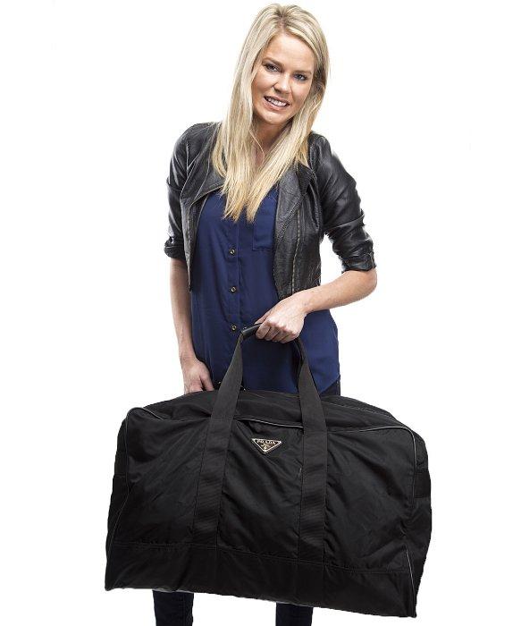 Prada Pre-Owned Black Nylon Large Duffle Bag in Black for Men | Lyst