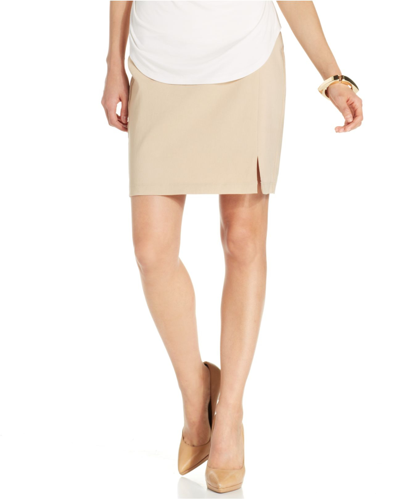 miraclesuit shaping pencil skirt in lyst
