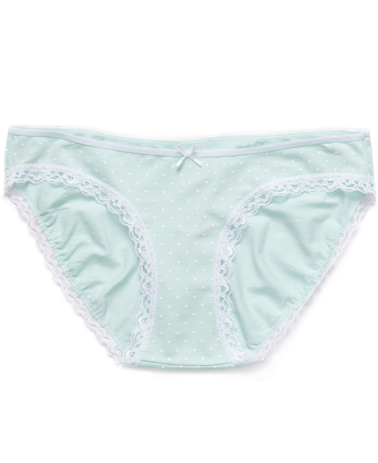 0c2354f3e9900 Jessica Simpson Maternity Polka-dot Bikini Panties in Green - Lyst