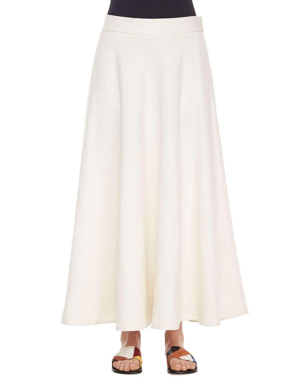 Linen White Skirt 5