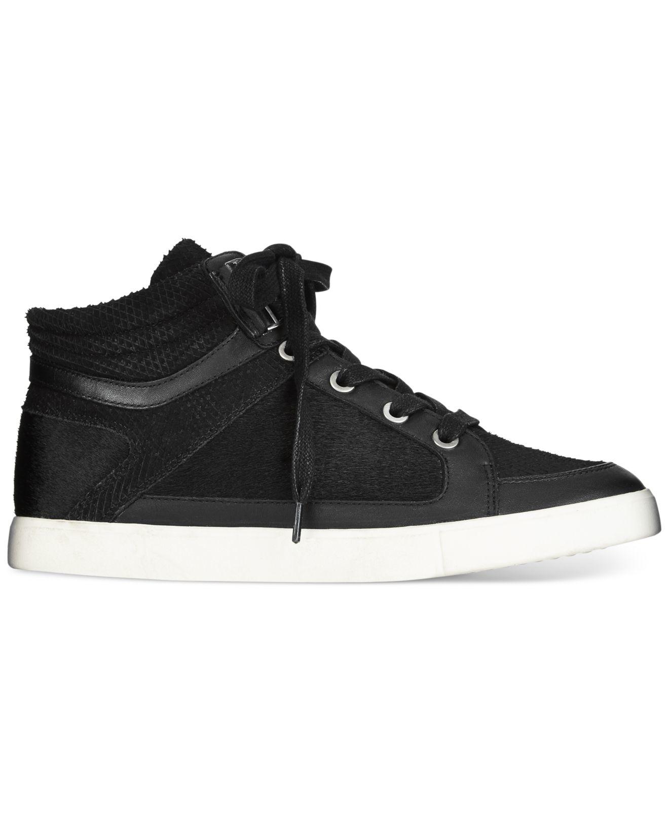 calvin klein lyda high top sneakers in black lyst. Black Bedroom Furniture Sets. Home Design Ideas