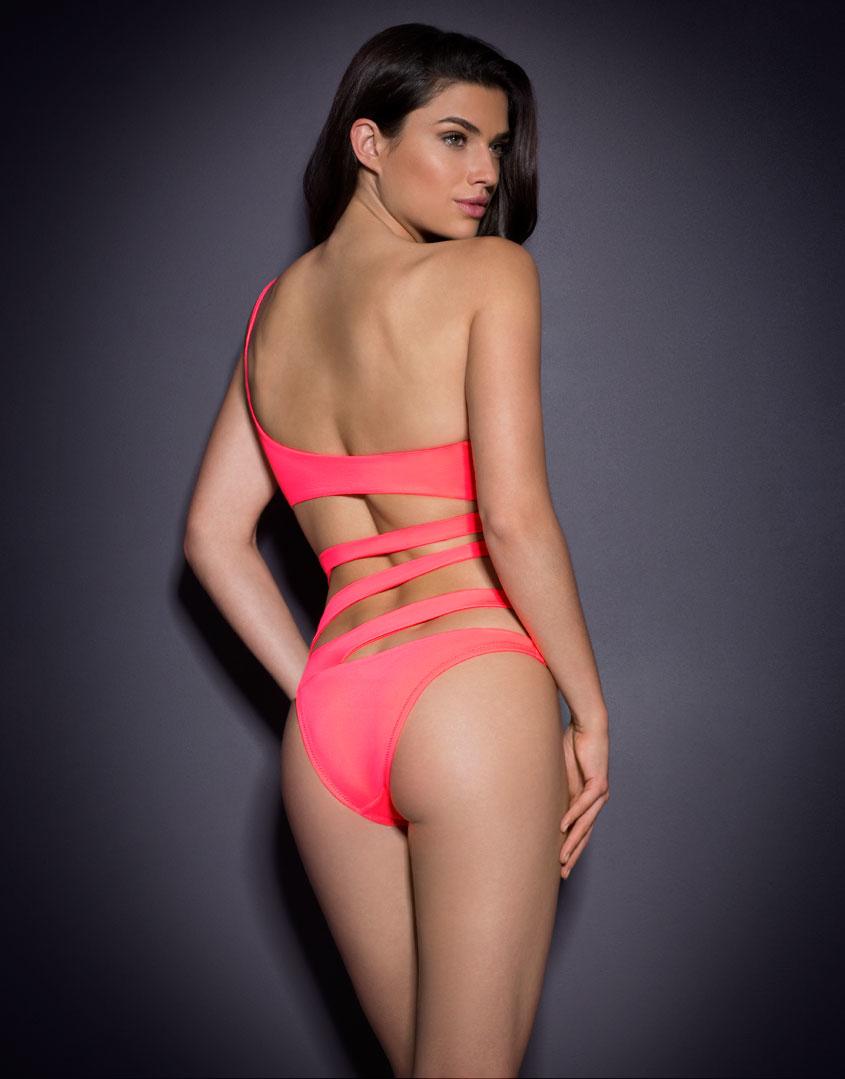 d803031f8d Lyst - Agent Provocateur Lexxi Swimsuit Coral in Pink