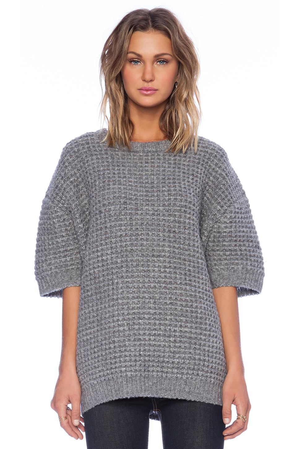 Marc by marc jacobs Walley Short Sleeve Sweater in Gray | Lyst