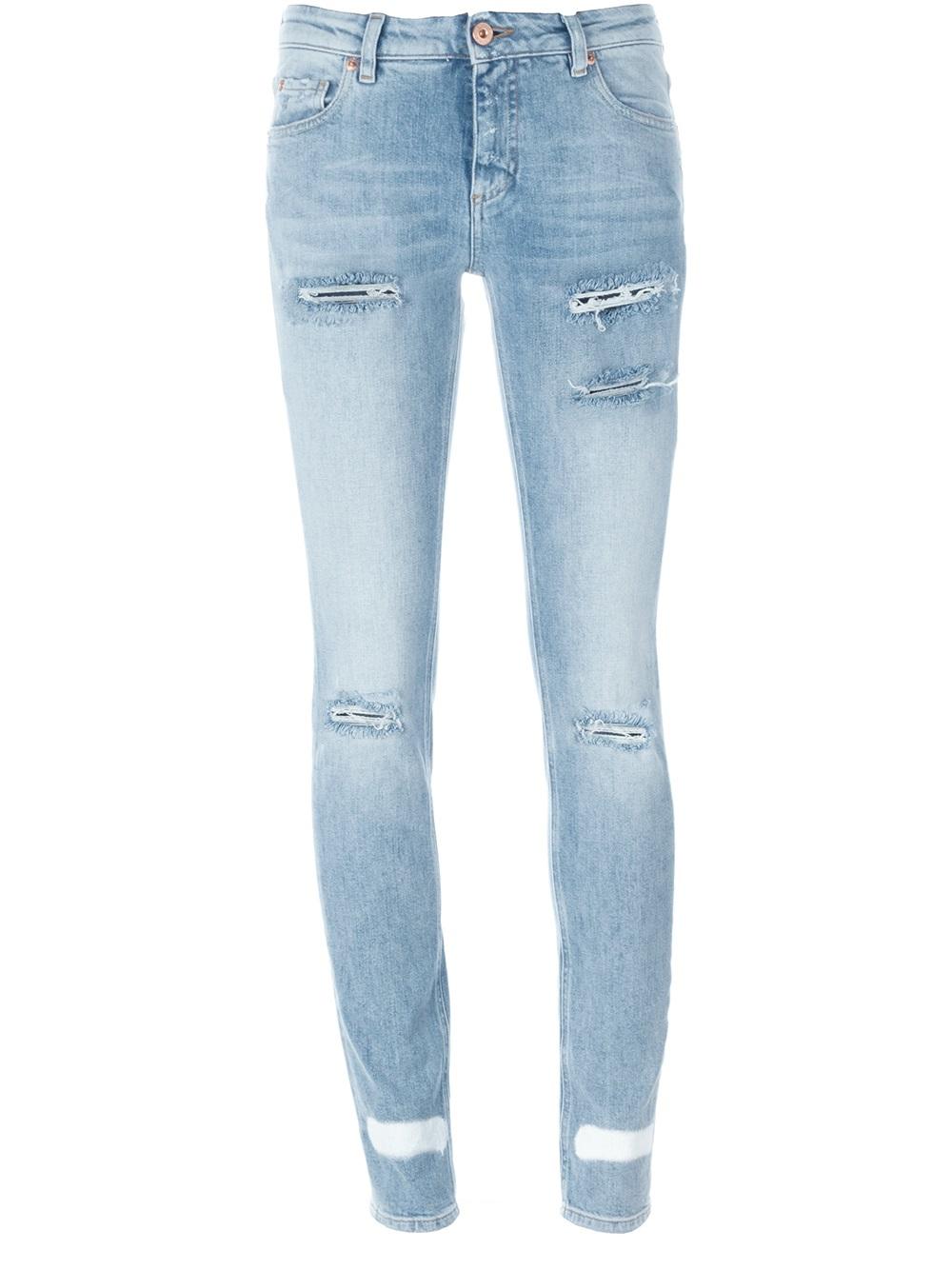 659963e60fad Lyst - Off-White c o Virgil Abloh Skinny Jeans in Blue