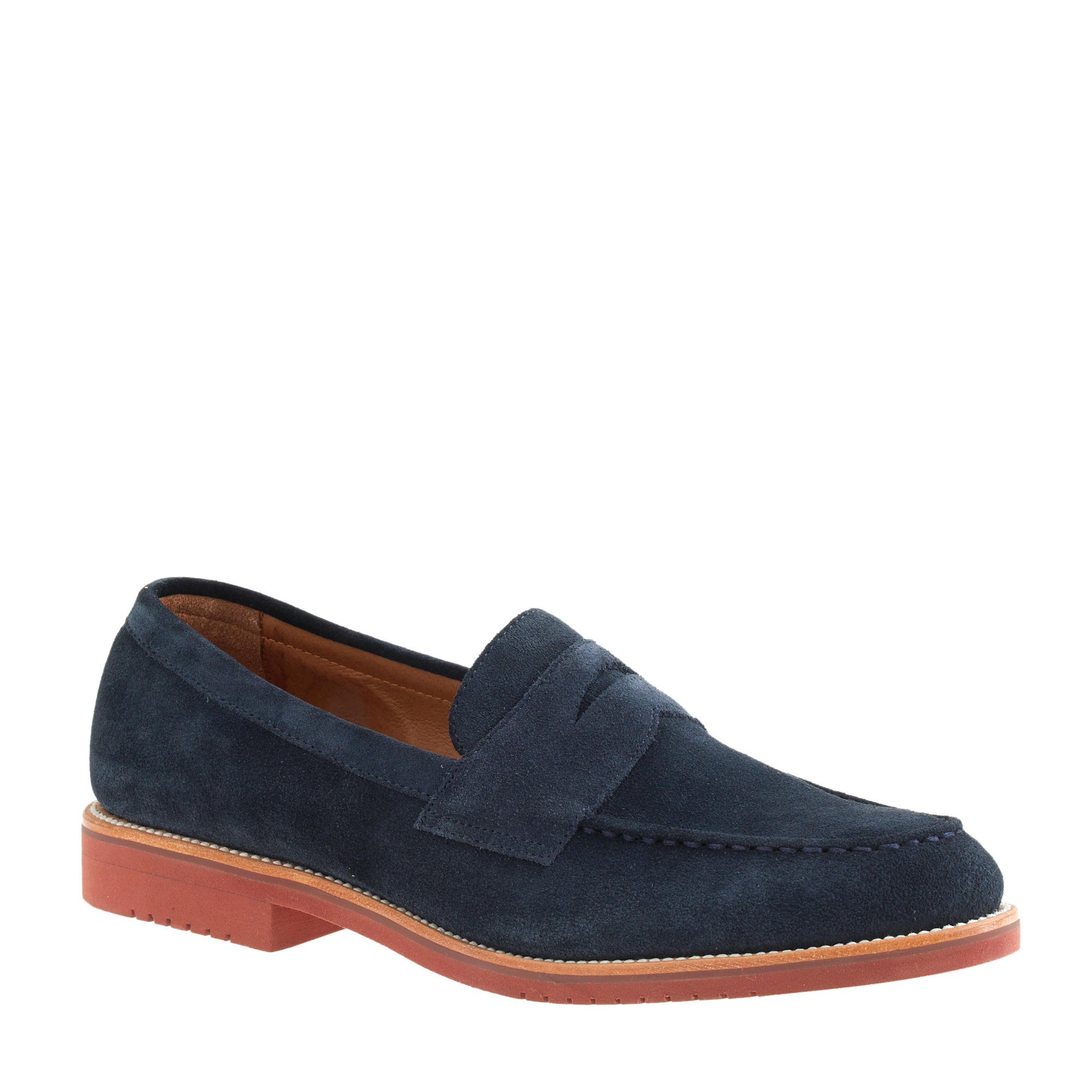 0f6f254aaf2 Lyst - J.Crew Kenton Suede Penny Loafers in Blue for Men