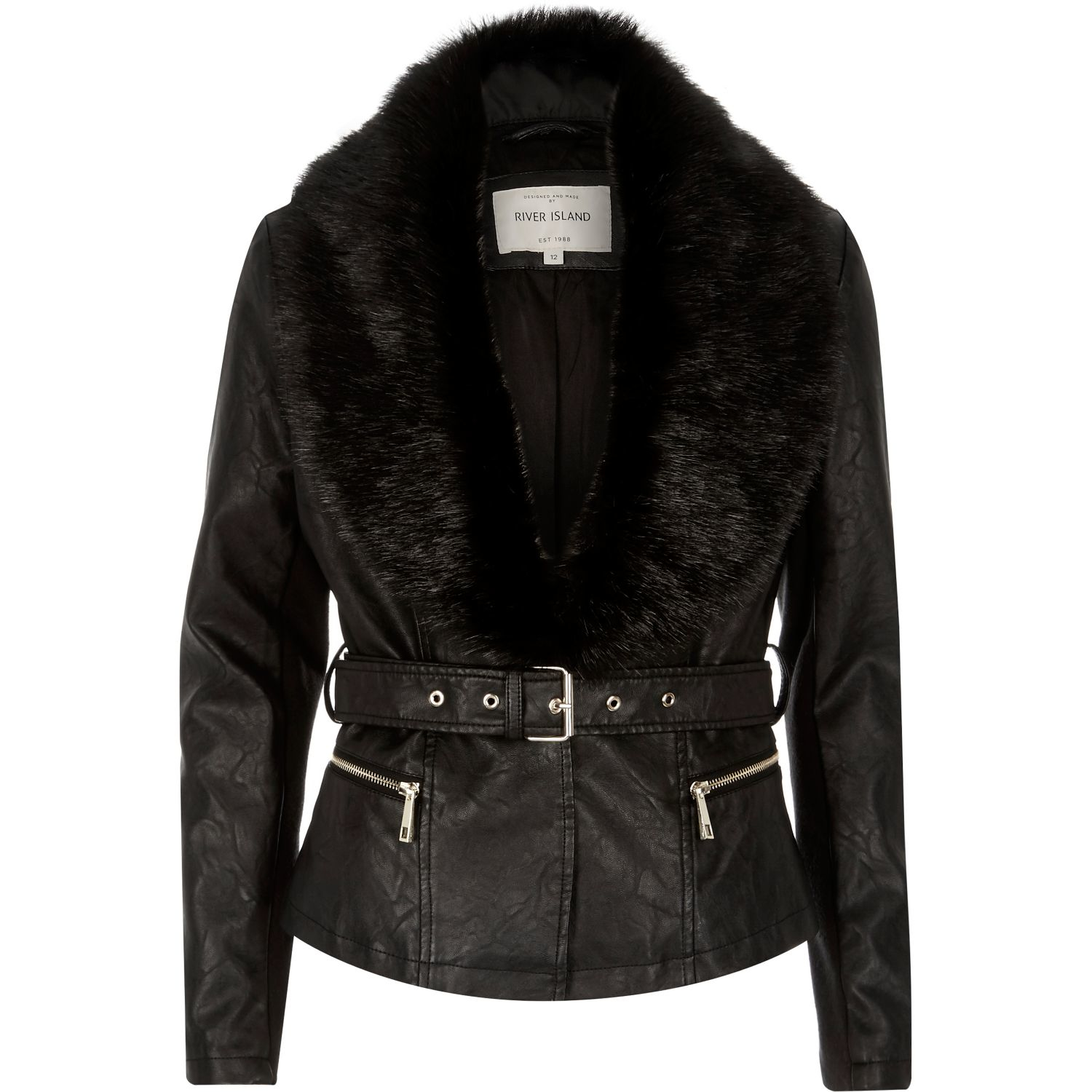 Leather And Faux Fur Coats Womens - Tradingbasis