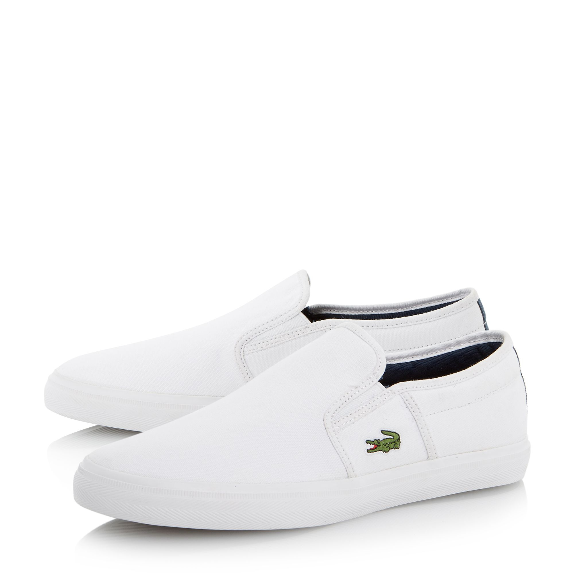 White Lacoste Shoes For Men