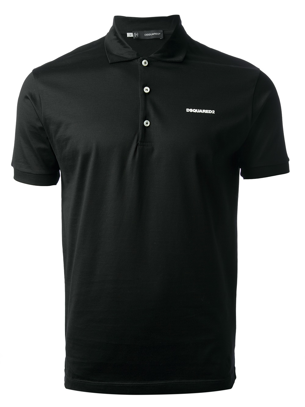 Dsquared2 logo polo shirt in black for men lyst for Polo shirts with logos
