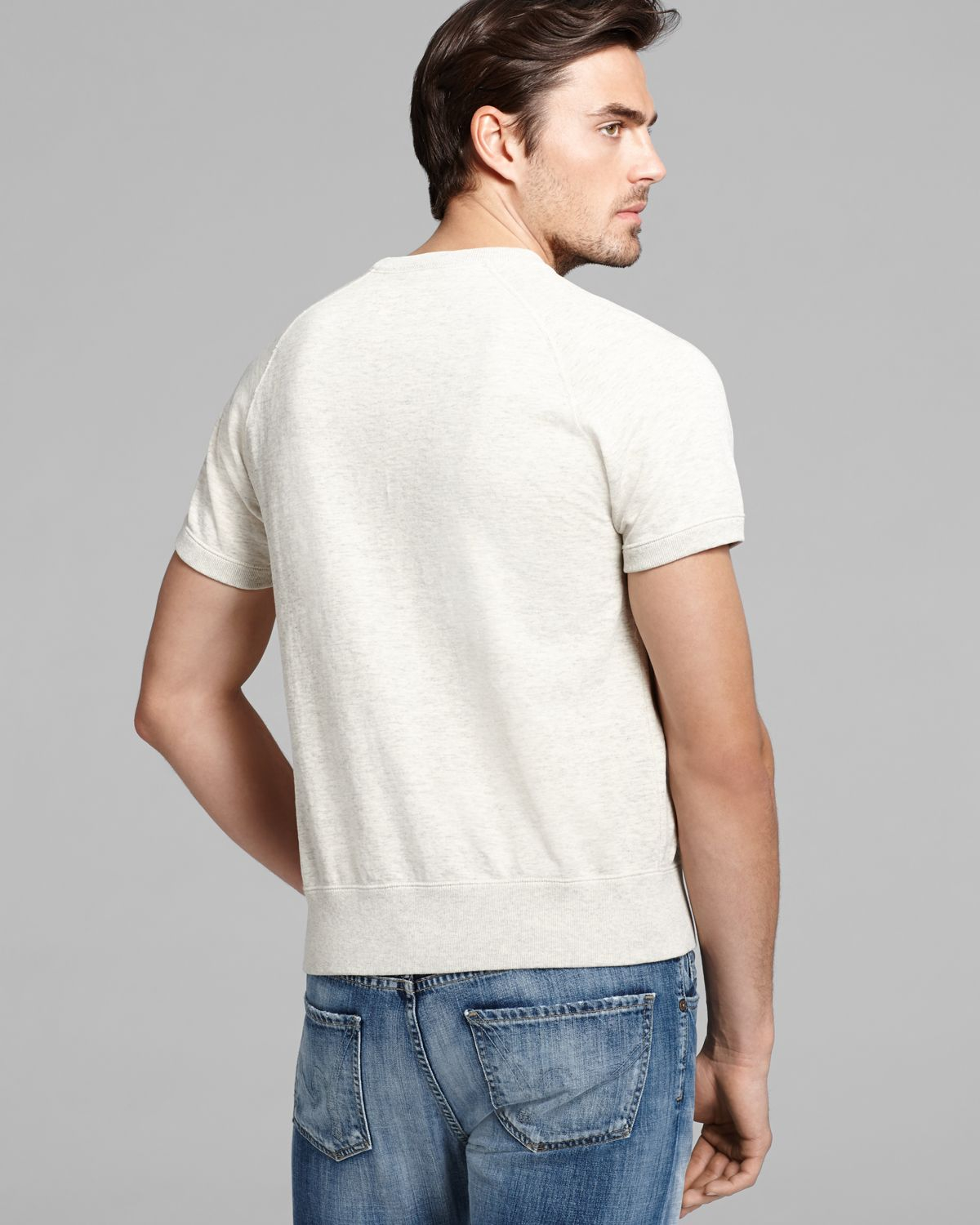 Todd snyder Short Sleeve Sweatshirt in Natural for Men | Lyst