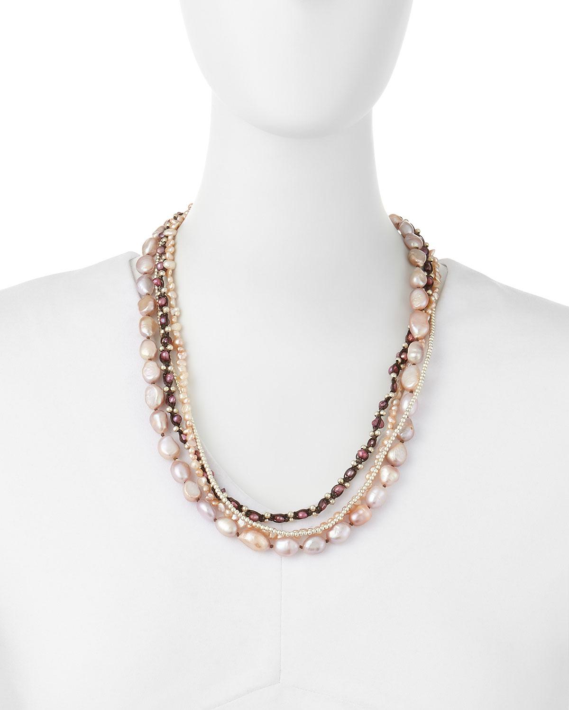 Nakamol Angular Bar Choker Necklace w/ Pearls 58COQoH