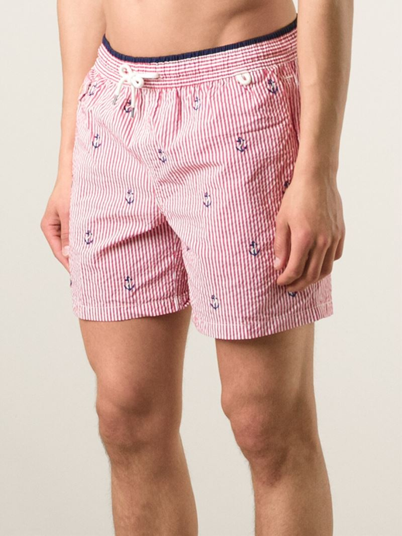 bfcf3cc67f ... new zealand polo ralph lauren embroidered anchors swim shorts in red  for men lyst jpg 800x1067