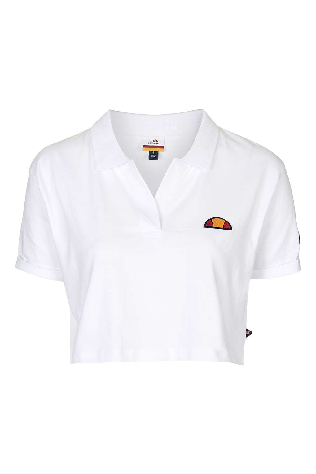 Topshop Cropped Polo Tee By Ellesse in White | Lyst