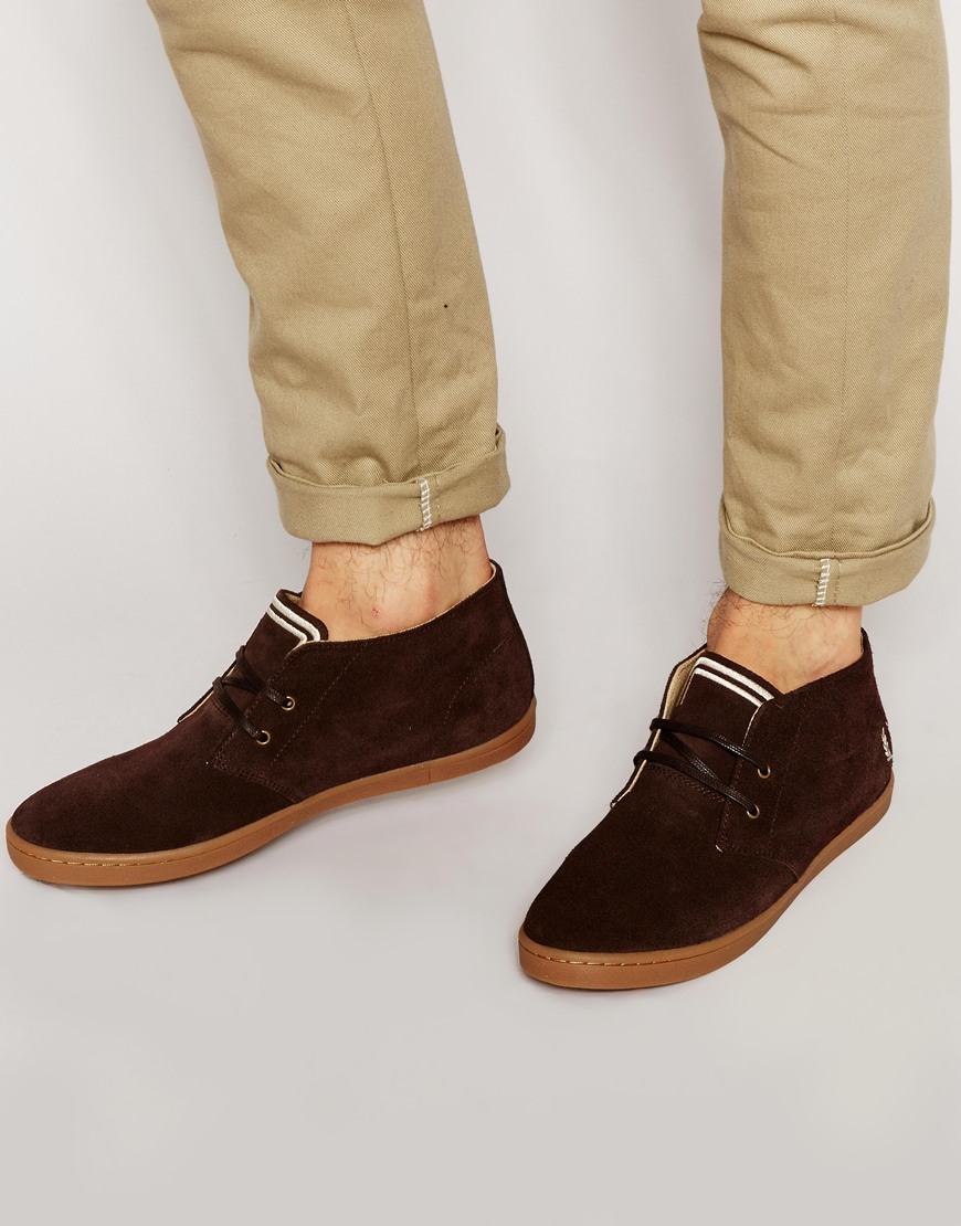 Fred Perry Byron Mid Suede Chukka Boots In Brown For Men