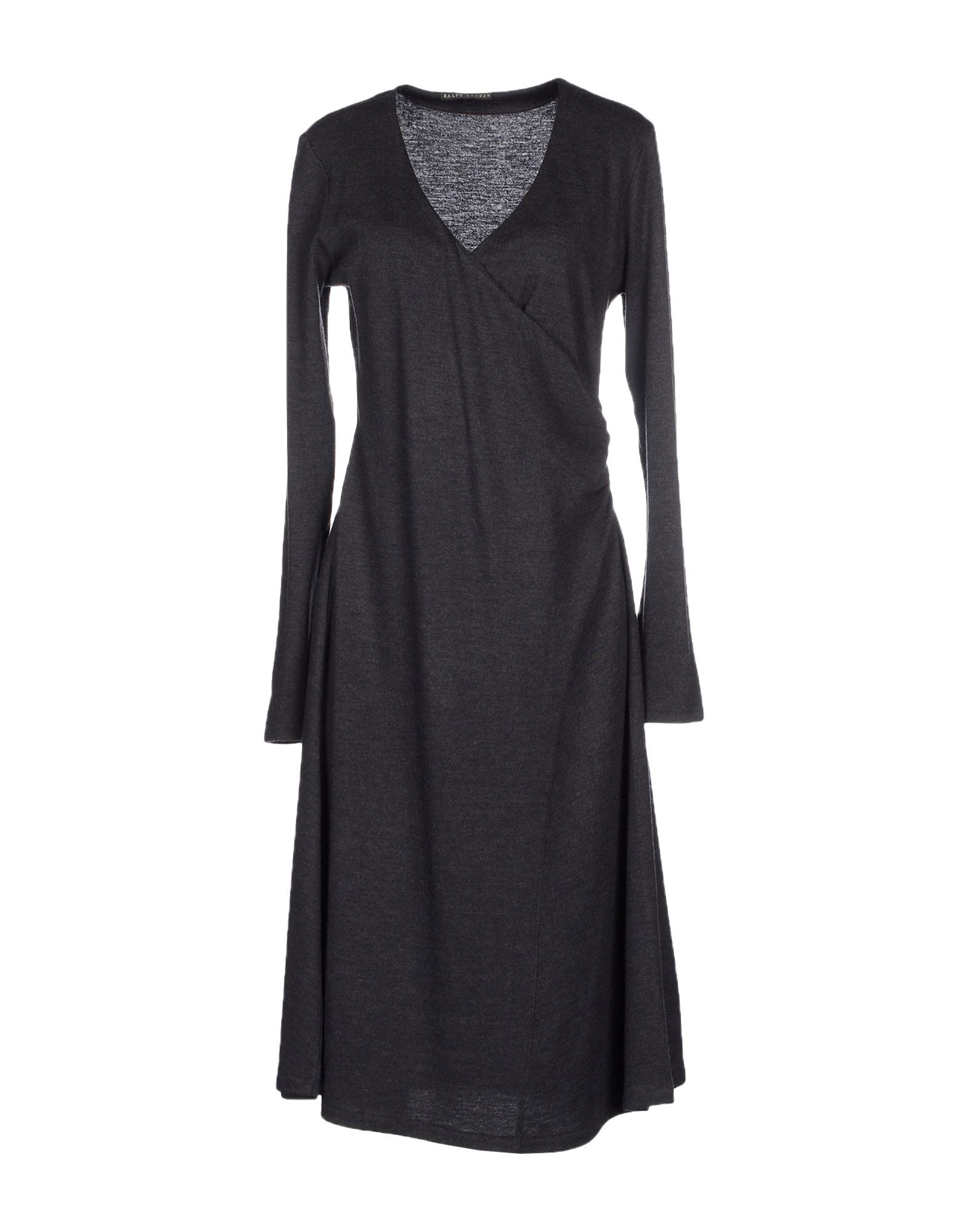 ralph black label knee length dress in gray lyst